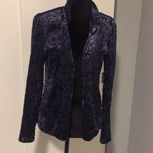 Chico's purple and black jacket